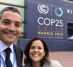 Picture of Secretary Crowfoot with Deputy Secretary for Climate and Energy at the COP25